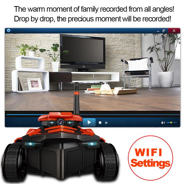 WiFi FPV RC Toy Phone Remote Control Camera Robot Tank AR Car