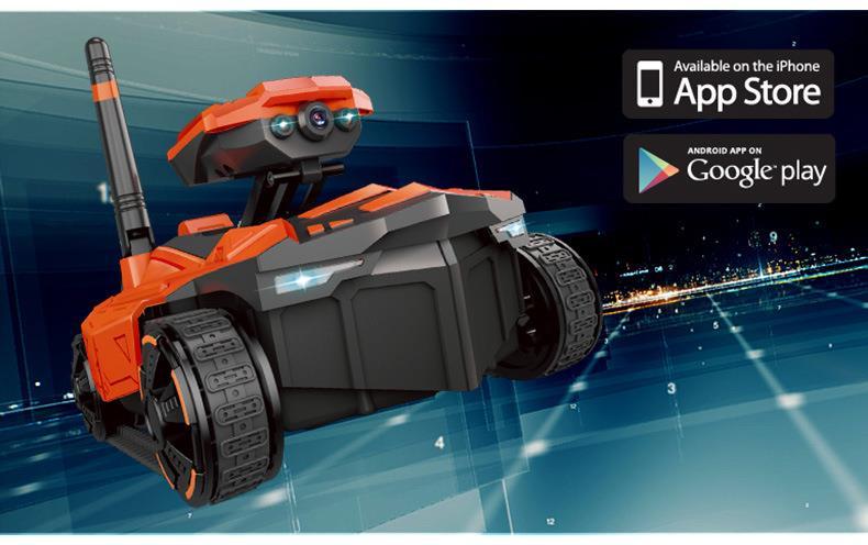 WiFi FPV RC Toy Phone Remote Control Camera Robot Tank AR Car