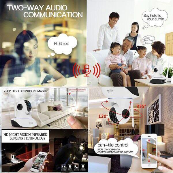 Wifi HD P2P CCTV IP Camera~2 Way Audio,Motion Sensor Alarm,IR-CUT