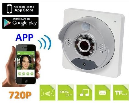 Wifi IP Doorbell Camera For iOS and Android (WIP-26A).