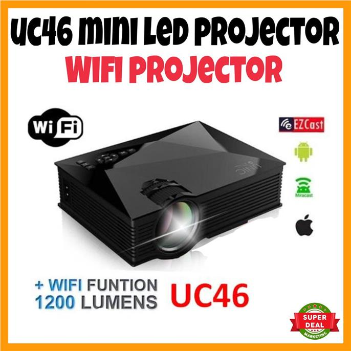 WIFI ORIGINAL UNIC UC46 MINI LED PROJECTOR 1200 LUMENS PRESENTATION