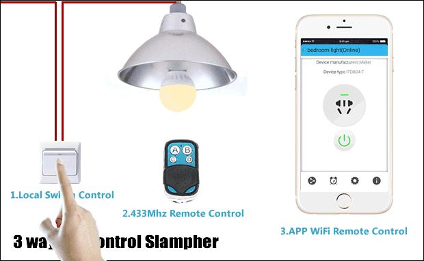 WiFi Wireless Smart Switch With RF Receiver For Smart Home