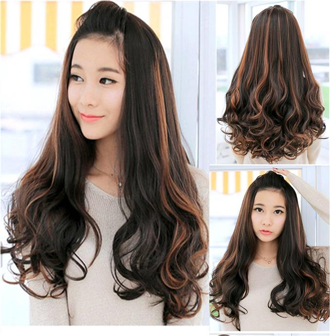 Half wig extension straight PX01/ready stock/rambut palsu/good quality