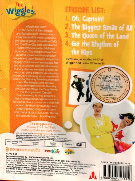 The Wiggles Wiggles And Learn Vol 4 DVD