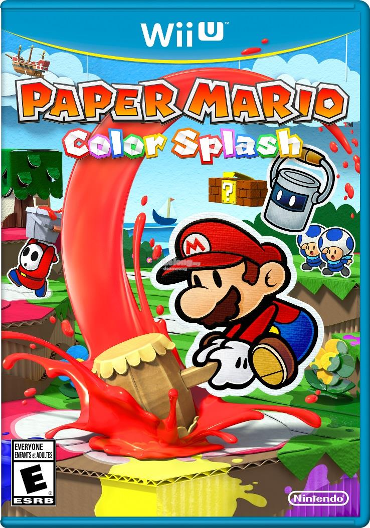Wii U Paper Mario Color Splash