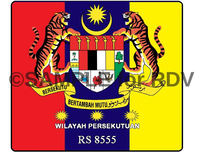 Wilayah Persekutuan KL Federal Windscreen Sticker (3 Star / Color)
