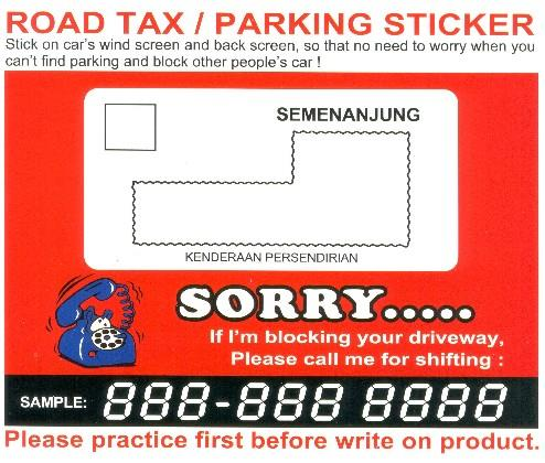 Parking Permit Stickers For Cars