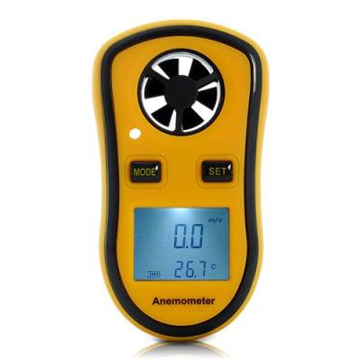Wind Speed Meter - Thermometer, Meaures Air Velocity