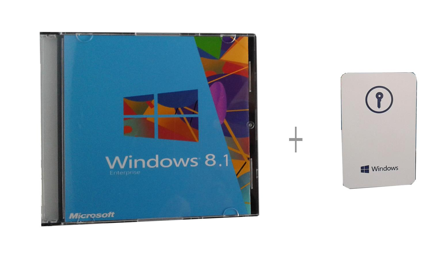 Window 8.1 Enterprise Product Key + Key Card + Installation CD
