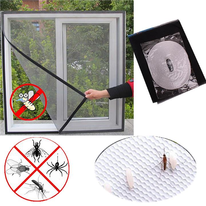 Window Protect Insect Fly Screen Curtain Netting Door