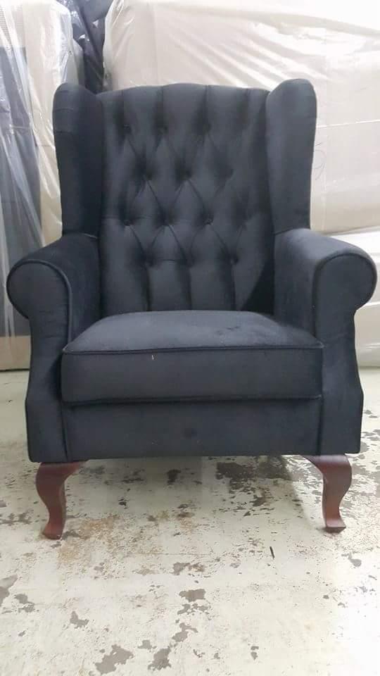 wing chair velvet