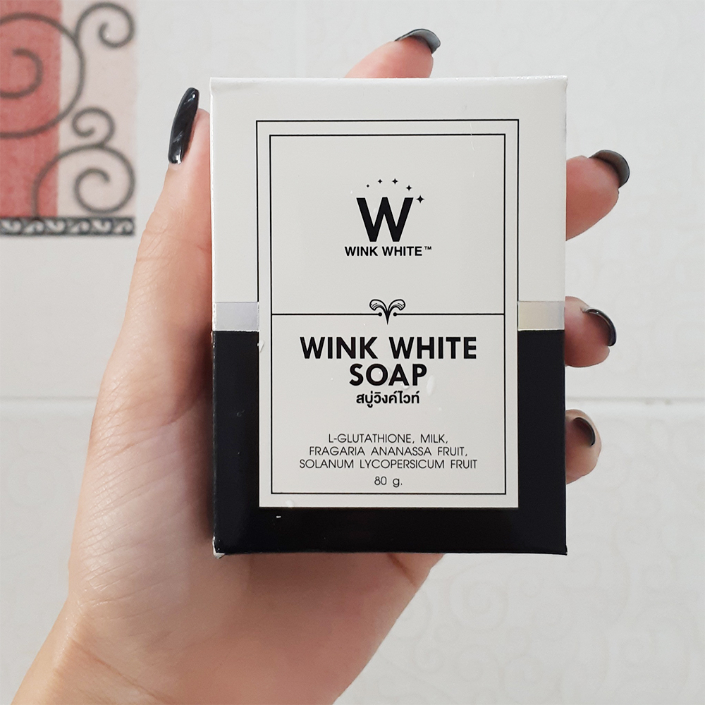 WINK WHITE SOAP 80g (Whitening Skin Reduce Acne Anti Aging)