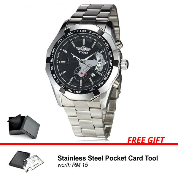 Winner Russian Original Fashion Men Man Automatic Mechanical Watch 304