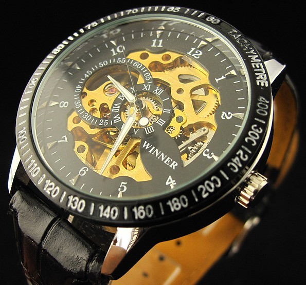 Winner Skeleton Automatic Mechanical Watch WN-882-1AV