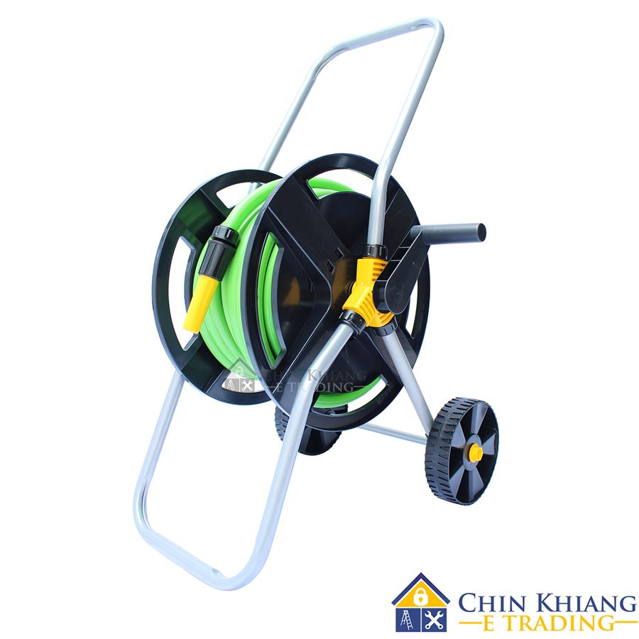 winsir 20m gardening hose reel cart with wheels