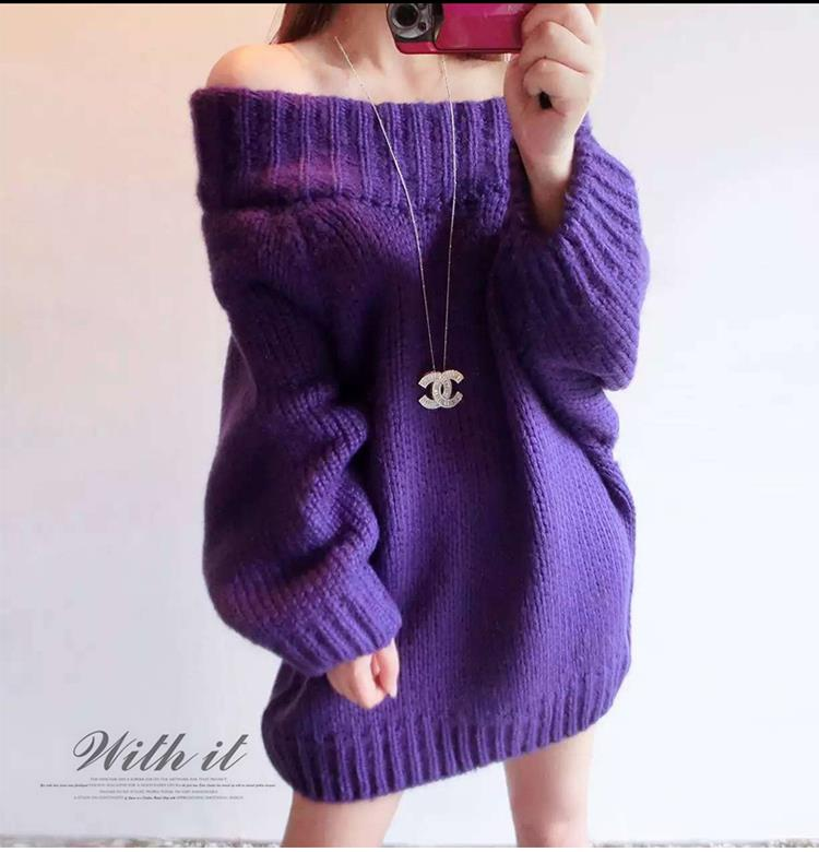 Winter Clothes Sweater Shoulder Less Girl Dress - Winter Clothes Sweater Shoulder Less (end 11/6/2017 3:49 PM)