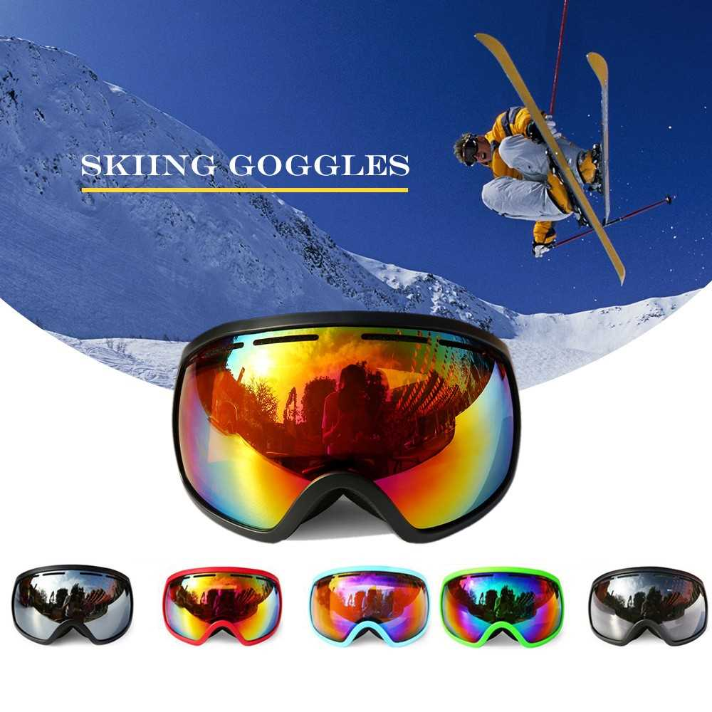 Winter Skiing Goggle UV400 Protection Dual Lens Snowboard Goggles OTG Spherica