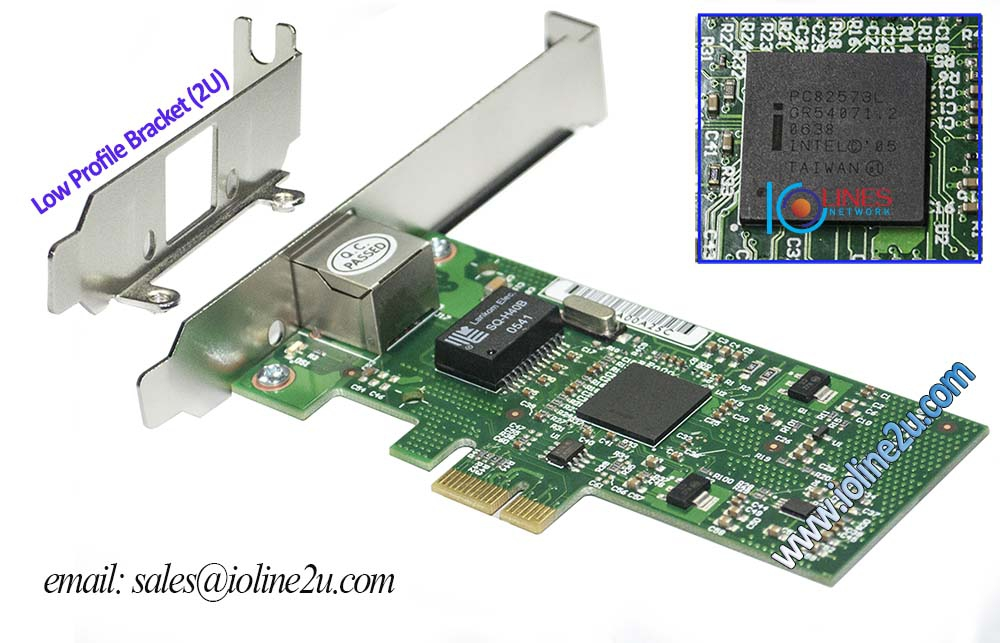 Winyao Intel 82573L Gigabit 1000Mbps Network Ethernet LAN Adapter PCIE Card 10