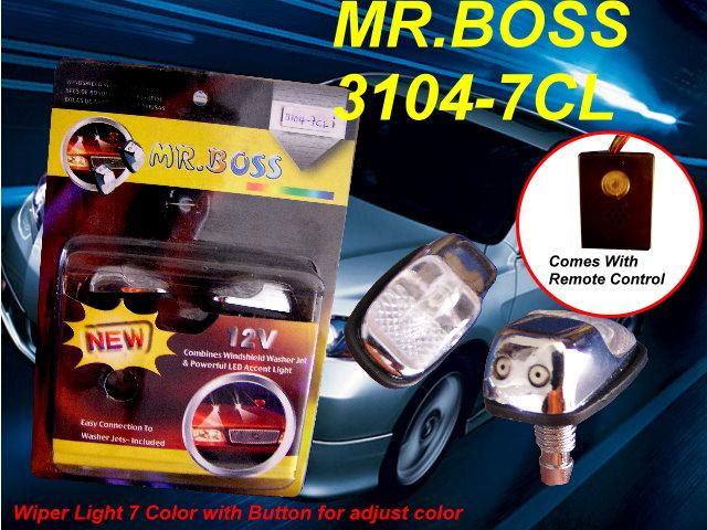 Wiper Light 7-colour with Button for Adjust Colour [Mr.Boss 3104-7CL]
