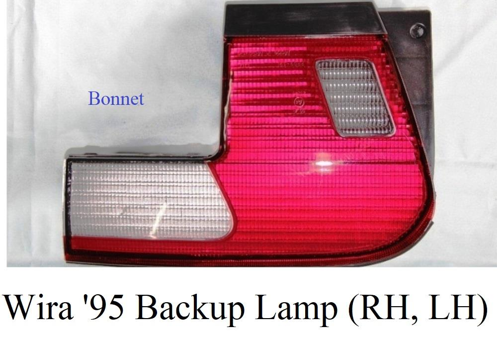 Wira '95 Tail Lamp with Garnish - Backup/Bonnet (sell in pc)