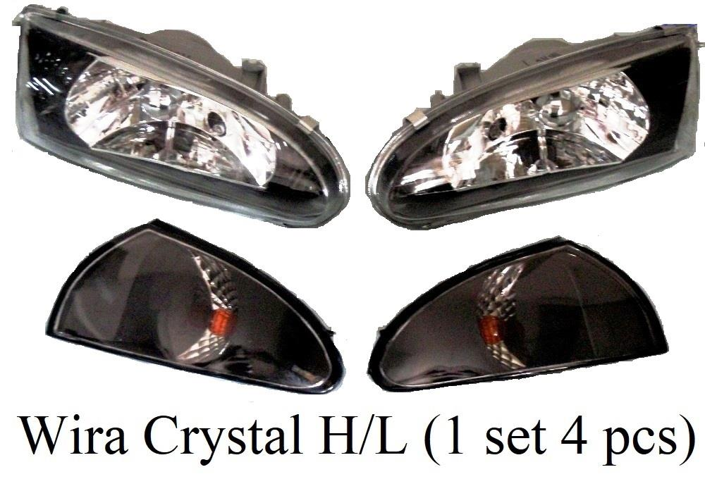Wira Crystal Head Lamp with Angle Lamp (1 set 4 pcs)