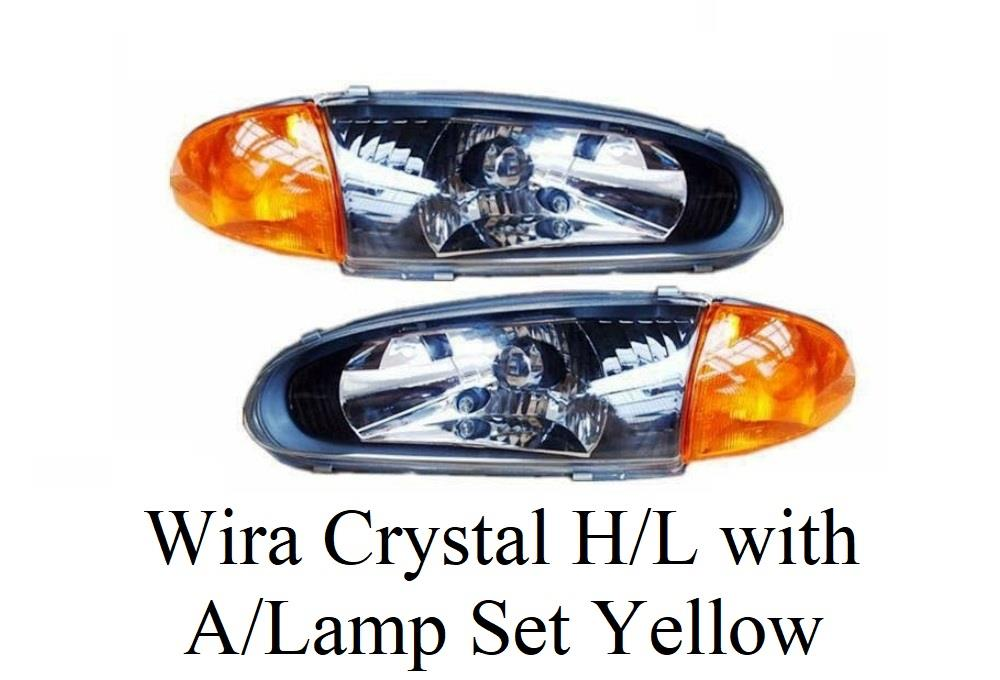 WIra Crystal Head Lamp with Angle Lamp Set Yellow (1 set 4 pcs)