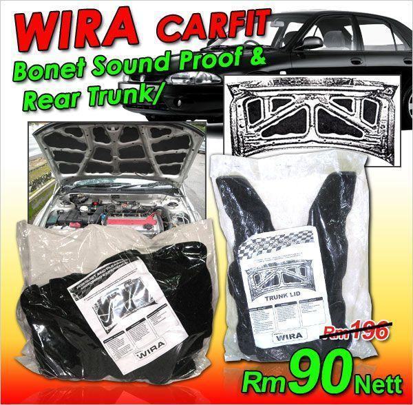 WIRA SEDAN Carfit Front Bonet & Rear Trunk Sound Proof