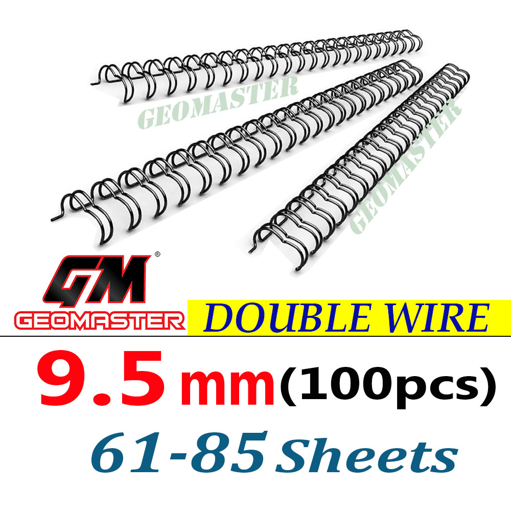 Wire Binding Spines Double Loop Wire Binding 34 loops 3:1 9/16'' 9.5mm 100pcs/