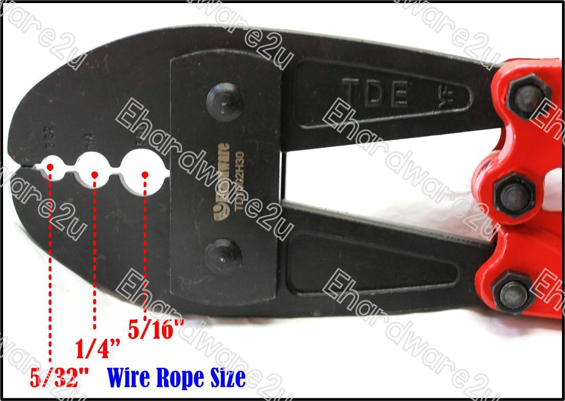 WIRE ROPE HAND SWAGING CRIMPING TOOL (end 8/30/2019 3:32 AM)