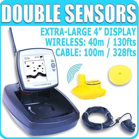Wired / Wireless Sonar Sensor Fish Finder 70m Range (WP-FF08).