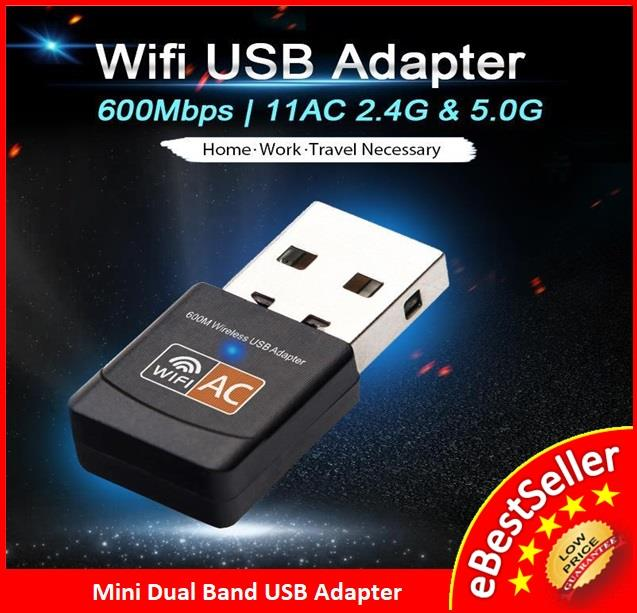 Wireless AC 600Mbps Dual Band WiFi Mini USB Adapter