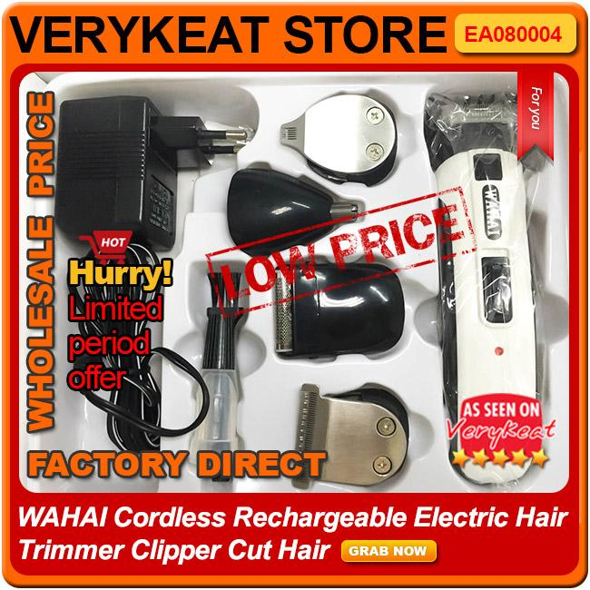 Wireless Cordless Rechargeable Electric Hair Trimmer Clipper Cut Hair