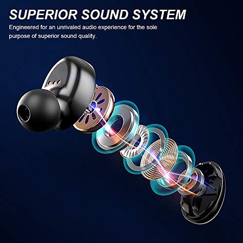 Wireless Earbuds with Immersive Sound True 5.0 Bluetooth in-Ear HeadphonesÂ
