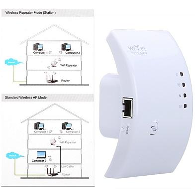 Wireless-N 802.11 WiFi Router Repeater Extender Booster (MYS Plug)