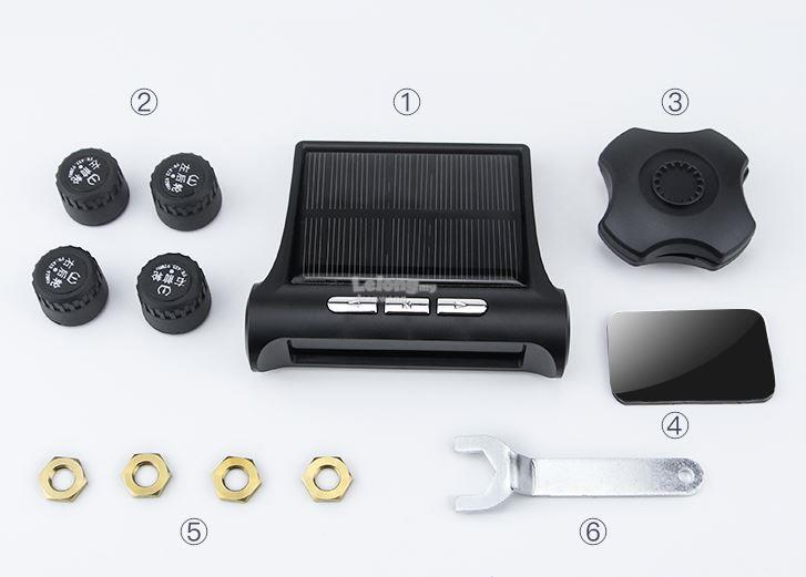 Wireless Solar Powered Tyre Pressure Monitoring System TPMS