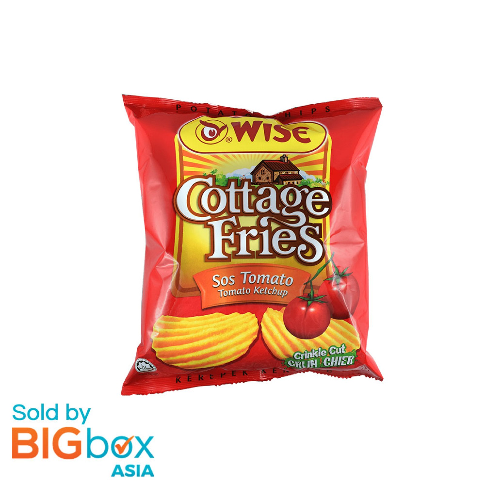 Wise Cottage Fries Tomato Ketchup (1 carton) 36 x 65g - US
