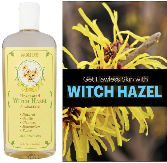 Witch Hazel Toner, Plant-Based, Unscented, Alcohol-Free (USA)