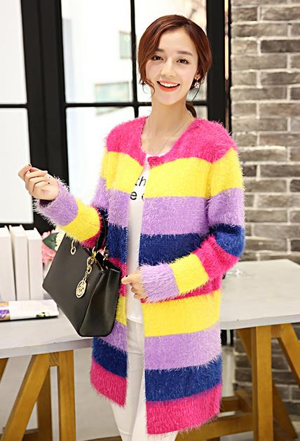 WJ6564 Colourful Cardigan As Picture