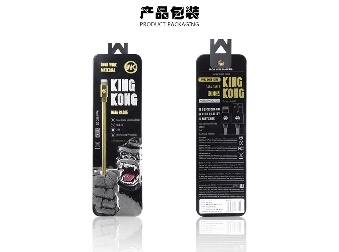 WK WDC-013 Lightning iPhone King Kong 2.4A 1M Data Charging Cable