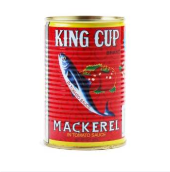 WM King Cup Brand Mackerel In Tomato Sauce 425g
