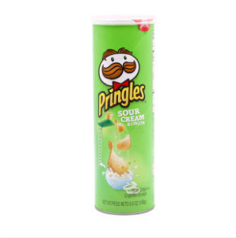 WM Pringles Sour Cream Onion Potato Crisps 110g