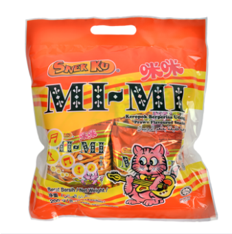 WM Snek Ku Mi-Mi Prawn Snacks 8pack x 25g