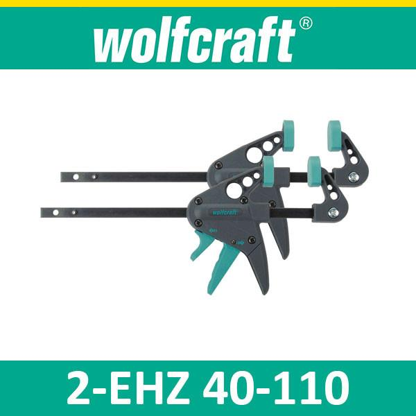 Wolfcraft 2x EHZ40-110 Miniature One-Hand Clamps