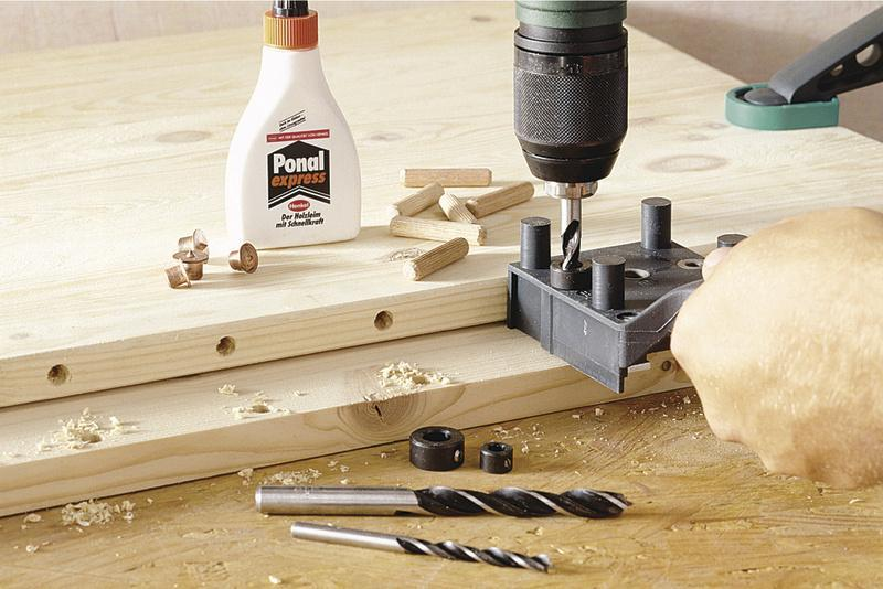 Wolfcraft 6/8/10mm Dowel Drills with Depth Stop