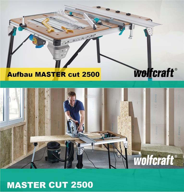 Wolfcraft Master Cut 2500 Precision 6-in-1 Work and Machine Table