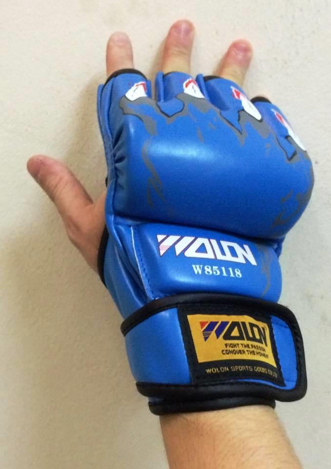 Wolon MMA UPC Punch Fighting UFC Gym Training Leather Boxing Glove