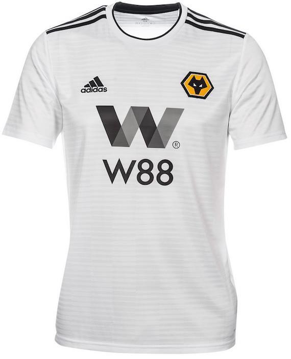 Wolverhampton Wanderers Wolves Away 2018 2019 Jersey Short Sleeve Whit. ‹ › dfd238c82