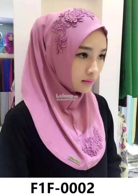 Woman Clothing Shirt Baju Perempuan Hijabs Pink (Flower)