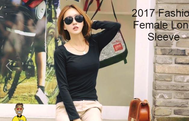 Woman Long Sleeve Female Girl Ladies Lady T-Shirt clothing dress black