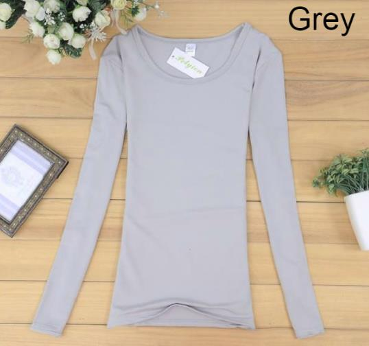 Woman Long Sleeve Female Girl Ladies Lady T-Shirt clothing dress white